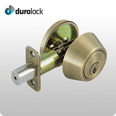 Durolock Grade 3 Double-sided Keyed Cylinder Deadbolt Lock Kwikset Kw1 Keyway