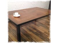 Rare Vintage Teak Parquet Coffee Table