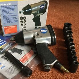 Air Impact Wrench kit with 10 pieces GWO