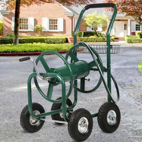 Garden Water Hose Reel Cart Outdoor Heavy Duty Yard Planting Storage Basket NEW