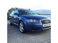 2005 Blue Audi A3, 2.0 TDI, diesel, Automatic DSG, 3 door, 7 months Mot. AUTOMATIC