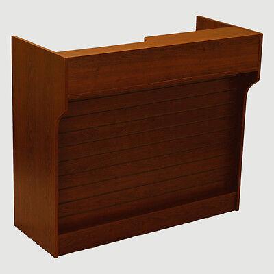 Itemltcs4wal Walnut 4ft Ledge-top Counter W Slat Wall Front Brand New