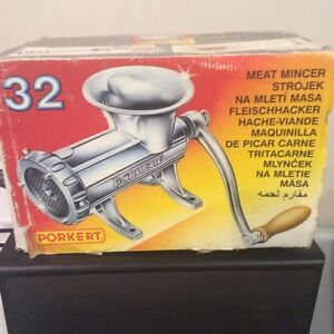 stainless steel manual meat grinder made in usa