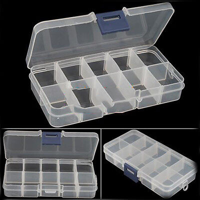 New Empty Storage Container Box Case for Nail Art Tips Rhinestone Gems WsUS