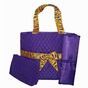 Purple Zebra Diaper Bag