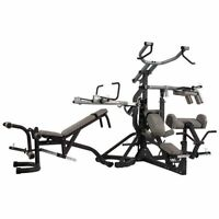 Body Solid Power Lift Leverage Gym SBL460P4 + Bench + Weights