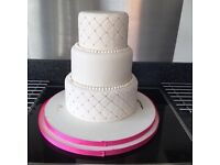 "10"" round dummy wedding cake"