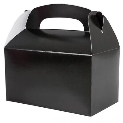 Black Party Treat Boxes (Pack of - Party Boxes