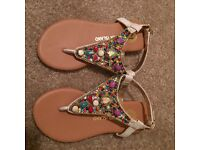 River island sandals size 10 new