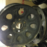 "17"" Black Steel Wheel 6x5.5 For Chev and GM 1500, Two Wheels"