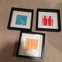 IKEA frames with kitchen artwork inserts