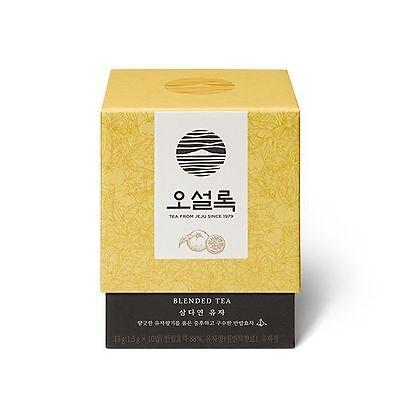 OSULLOC 10 Pyramid Tea Bags Korean Jeju Island Yuja Tea Organic Citron Flavored