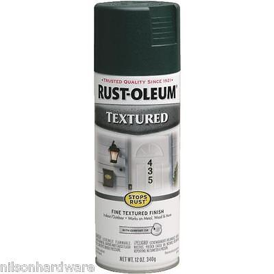 3 Pk Forest Green RustOleum Stops Rust Textured Finish Spray Paint -