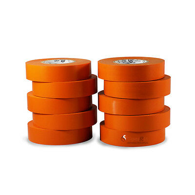 Tapessupply 10 Rolls Pack Orange Electrical Tape 34 X 66 Ft