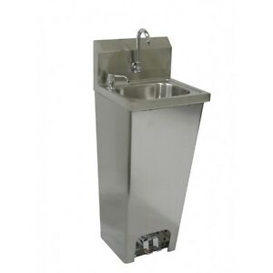 Hand Sink w/ Foot Operated Valves Stainless Steel *No Lead Faucet*