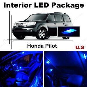 Blue Led Lights Interior Package Kit For Honda Pilot 2009 2013 13 Pieces