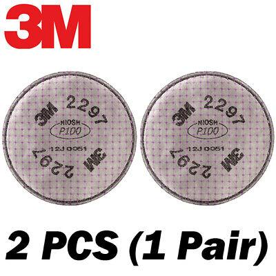 100% 3M Genuine OEM 2297 Filters 2 PCS (1 Pair) for 3M 6000 Respirators Series