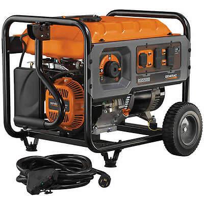 Generac RS5500 - 5500 Watt Rapid Start Portable Generator w/ Convenience Cord