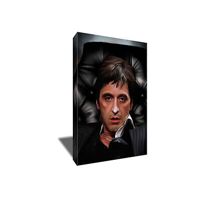 Al Pacino SCARFACE Stoned Ready for War Poster Photo Painting on CANVAS Wall ART