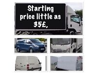 Man and van.small van price little as 35£ 2hour.Any size of van.