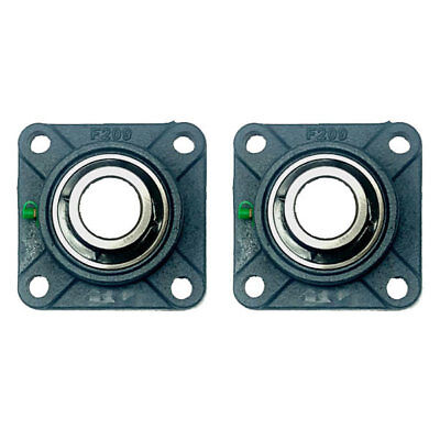 2x Ucf209-26 1-58 Square 4 Bolt Flange Bearing