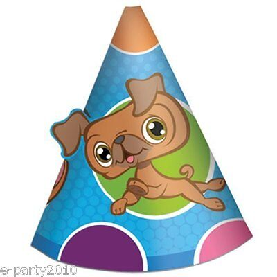 LITTLEST PET SHOP CONE HATS (8) ~ Birthday Party Supplies Favors LPS Hasbro Cute