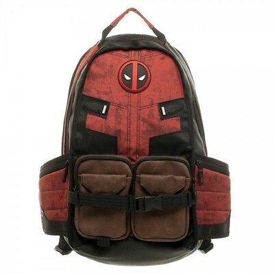 Deadpool Marvel Comics Super Hero Movie Civil War School Laptop Bag Backpack