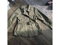 Girls khaki rainmac