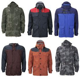 Brave Soul Men's Showerproof Hooded Jackets – 10 options