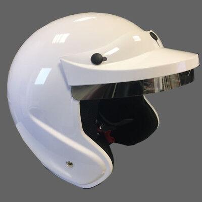Motorsport Jet Helm TEC weiss, Gr. L, Helmet Touring Car Kart ECE