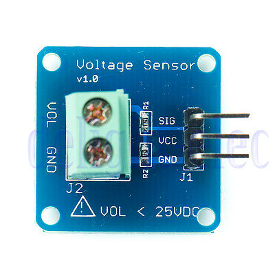 Dc Voltage Sensor Module Voltage Detector Divider For Arduino Dg