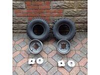 "8"" quad tyres and rims"