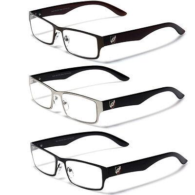 2.50 Readers - New Stylish Men Designer Reading Glasses 1.50 2.00 1.25 2.50 Clear Lens Readers