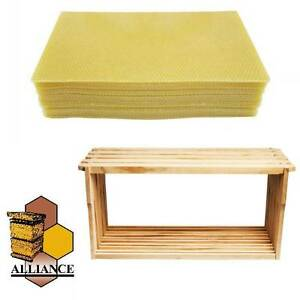20 Pack Bees Wax Foundation & 20 Alliance Timber Frames Prestons Liverpool Area Preview
