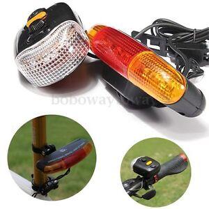 Bike Bicycle Cycling Brake Rear Tail Signal Horn Bell Turn Indicator 7 LED Light