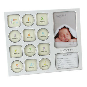my year 12 month data baby photo photograph frame newborn gift ebay