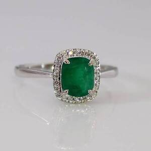 18K WHITE GOLD NATURAL COLOMBIAN EMERALD AND DIAMONDS RINGS Perth Perth City Area Preview