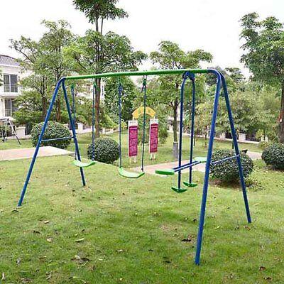 (Kids Child Garden Swing Set Double Swing & Glider Children Toy Playset Outdoor)