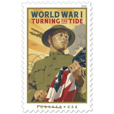 USPS New World War I: Turning the Tide Pane of 20