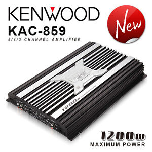 NEW Kenwood KAC-859 5-channel 1200 Watt Amplifier car stereo
