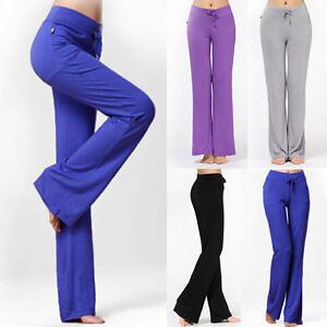 pantalon sport yoga jogging danse gym confortable loisir femme pants m 2xl ebay. Black Bedroom Furniture Sets. Home Design Ideas