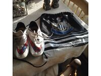 Boys Nike boots with bag