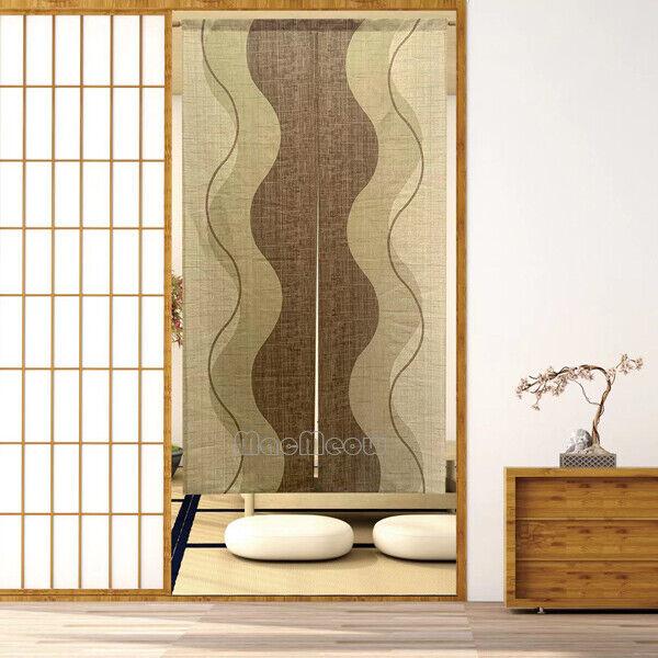 Japanese Noren Door Doorway Hanging Curtain Modern Room Divider Tapestry Drapes Ebay