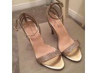 Gold sparkle sandals - *worn once*