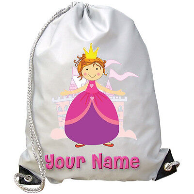 2f03e29f4ae8 PRINCESS   CASTLE PERSONALISED GYM   SWIMMING   PE   DANCE BAG -KIDS NAMED  GIFT