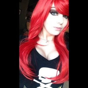 Long Red Anime Wig