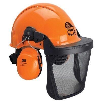 Forsthelm G3000M orange mit Gesichts- und Gehörschutz (Orange Schutzhelm)