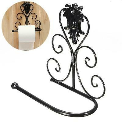Classical Iron Toilet Paper Towel Roll Hold Bathroom Wall Mount Rack Craft Hook