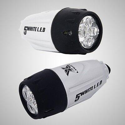 XC-769W Bicycle Headlight 5 LED flashlight White LED Light Waterproof