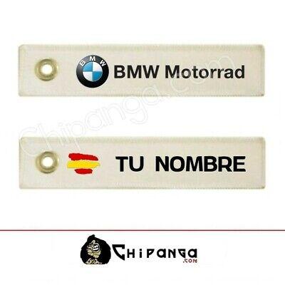 Llavero Tela BMW personalizado nombre de bandera España no pegatina camiseta GS